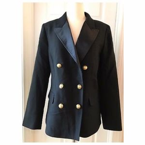 J.CREW DOUBLE-BREASTED BLAZER IN ITALIAN WOOL WITH